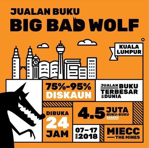 Jualan Buku Terbesar Di Dunia  Big Bad Wolf Kembali Lagi