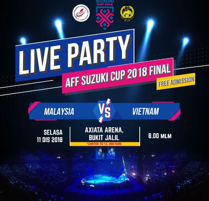 Axiata Arena Dibuka Bagi Peminat Saksikan Perlawanan Final 1 Piala Suzuki 2018